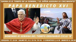 COMENTARIO DEL PAPA BENEDICTO A MARCOS 4, 26-34. DOMINGO XI SEMANA DEL TIEMPO ORDINARIO CICLO