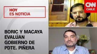 Diputados Gabriel Boric y Javier Macaya evalu?an el gobierno del presidente Pin?era