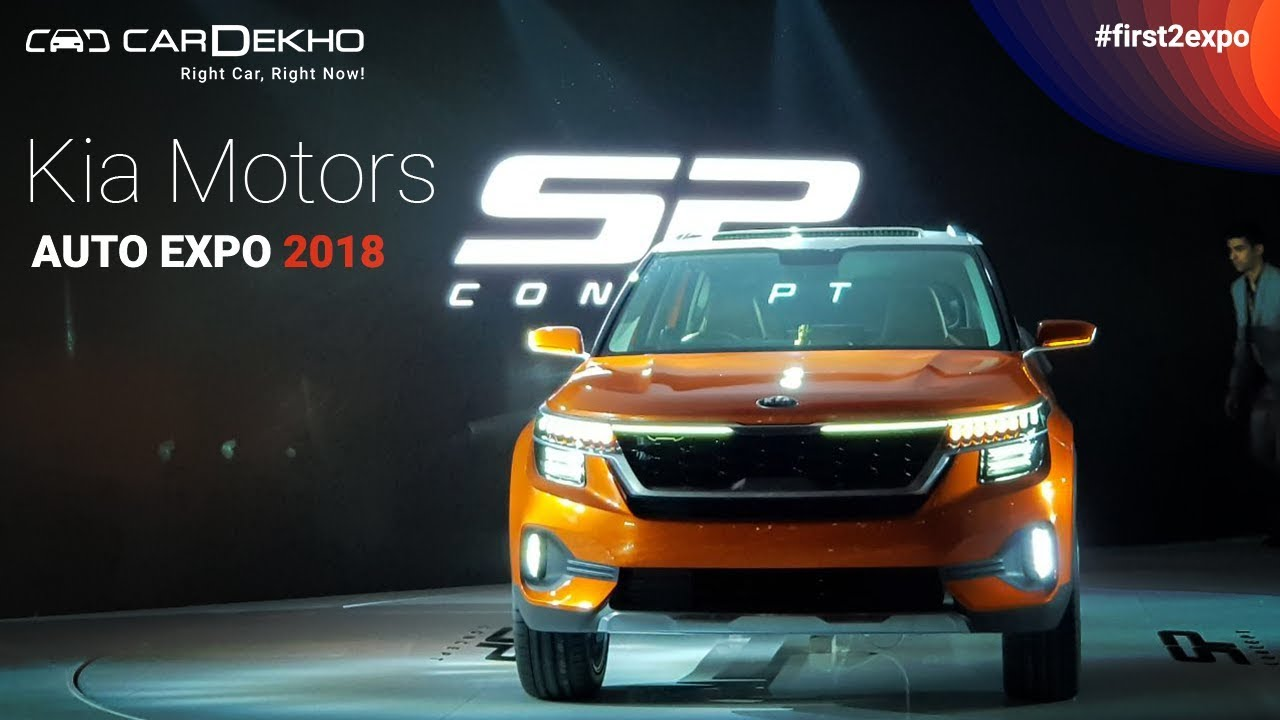 Kia at Auto Expo 2018 | #First2Expo | All The Cars | Pavilion Lineup