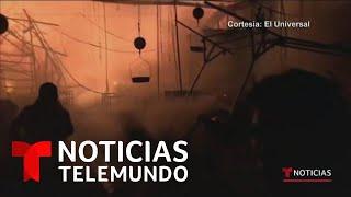 Voraz incendio consume esta nochebuena el Mercado de la Merced en México   Noticias Telemundo