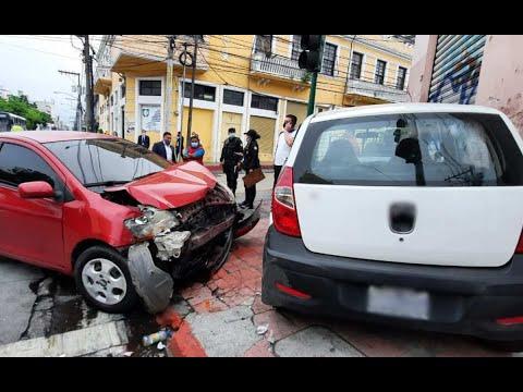 Grave accidente en la Zona 1 de Ciudad de Guatemala