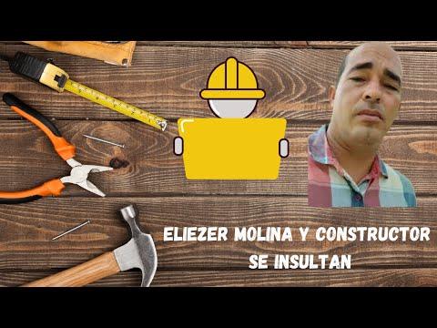 Eliezer Molina y constructor se insultan