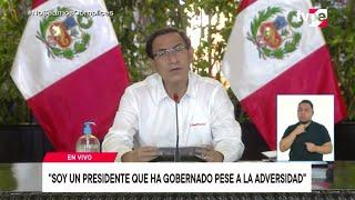 Presidente Martín Vizcarra brinda conferencia de prensa desde Palacio de Gobierno