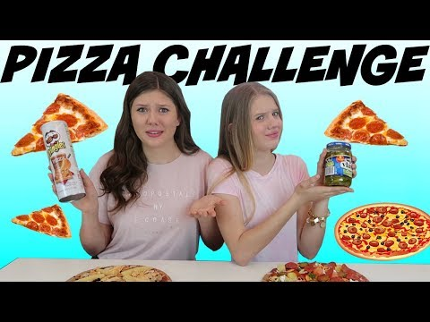 connectYoutube - PIZZA CHALLENGE || Taylor and Vanessa