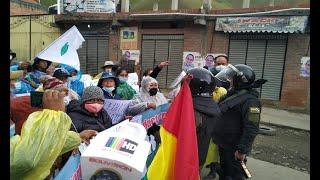 Piedras, gasificación y conflicto entre mujeres cocaleras y la policía