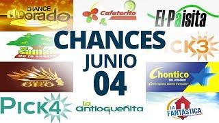 Resultados del Chance del Jueves 4 de Junio de 2020 | Loterías ????????????????