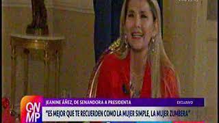 12 de diciembre, Cecilia Bellido entrevista a Jeanine Añez