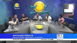 Antoliano Peralta abogado del Coronel Guzmán Peralta habla en el momento que ponen en libertad