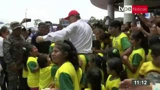 El presidente Martín Vizcarra supervisa entrega de centro infantil de atención integral