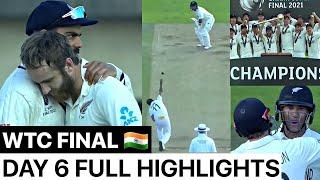 WTC FINAL India vs New Zealand Day 6 Full Highlights,Ind vs Nz WTC Final Day 6 Match Highlights - AAJKIKHABAR1