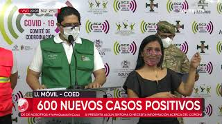 Santa Cruz registra 600 nuevos casos positivo de Covid-19 esta jornada