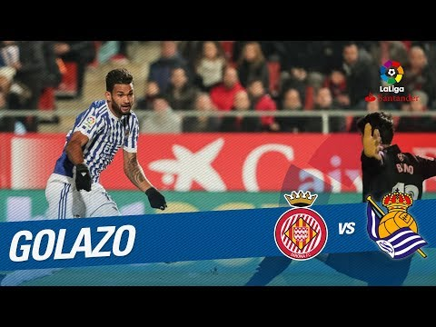 Golazo de Willian José (0-1) Girona FC vs Real Sociedad
