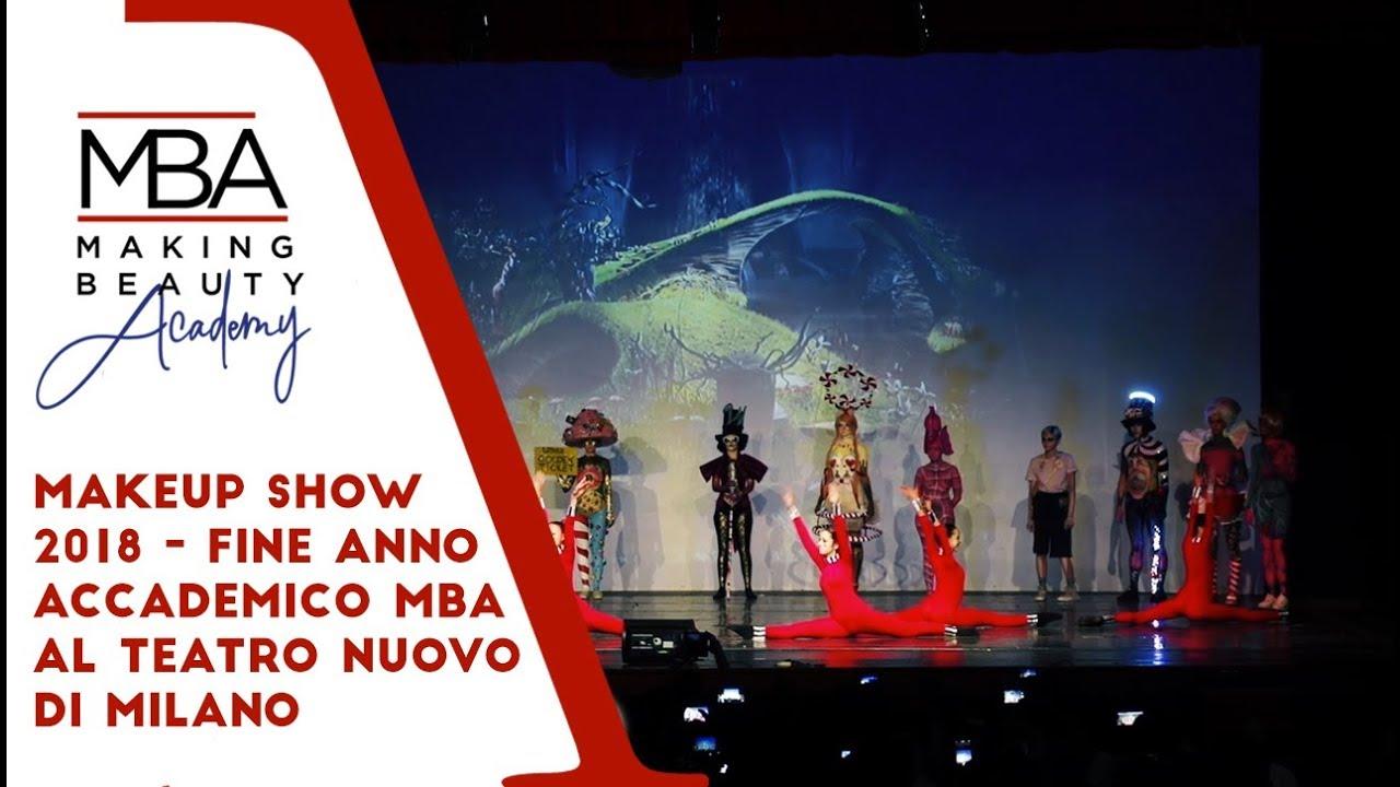 Makeup Show 2018 Fine Anno Accademico MBA al Teatro Nuovo di Milano