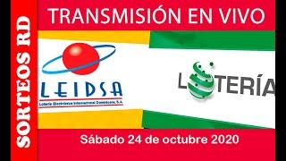 LEIDSA y Loteria Nacional  en VIVO   / Sábado 24 de octubre 2020