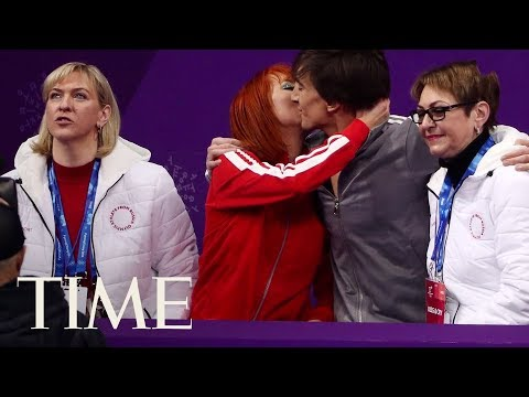 connectYoutube - What Is The 'Kiss & Cry' In Olympic Figure Skating? Emotional Moments Of The 2018 Olympics | TIME