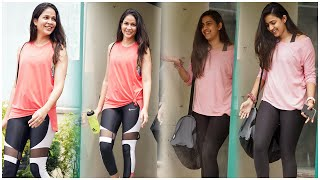 Lavanya Tripathi Niharika Konidela Spotted @ Gym Outside | Telugu Actress Gym Latest Videos | TFPC - TFPC