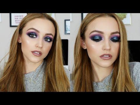 Purple & Blue Glitter | Makeup Tutorial