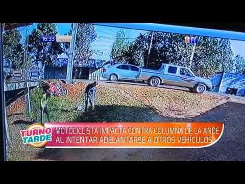 San Ignacio: Adelantamiento indebido provoca accidente de motociclistas