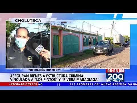"""MP asegura 110 bienes a estructura criminal vinculada  """"Los Pinto"""" y """"Rivera Maradiaga"""" en Choluteca"""