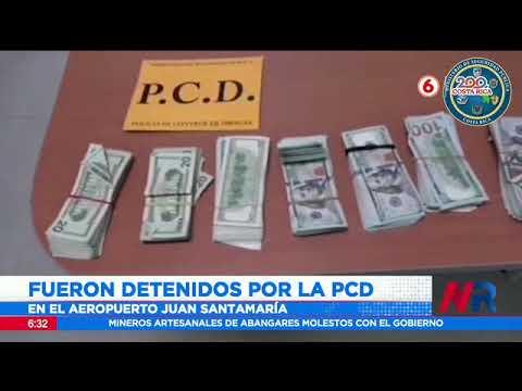 Detienen a pareja mexicana con $110 mil adheridos a sus cuerpos