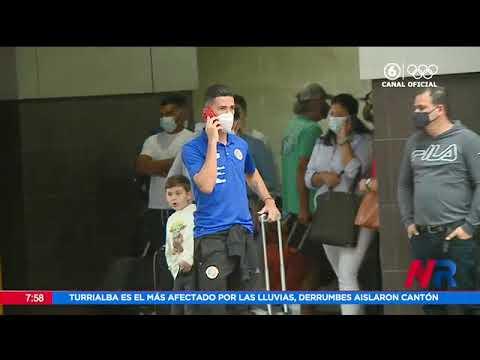 Selección costarricense de fútbol regresó al país tras la eliminación en Copa Oro