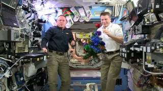 Space Station Crew Members Offer Christmas Greetings to the World
