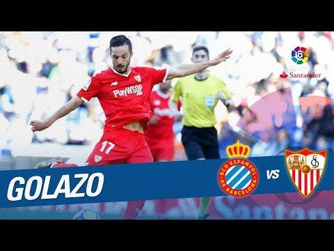 Golazo de Sarabia (0-2) RCD Espanyol vs Sevilla FC