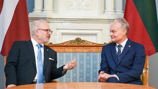 Prezidentas susitinka su Latvijos Prezidentu Egilu Levitu