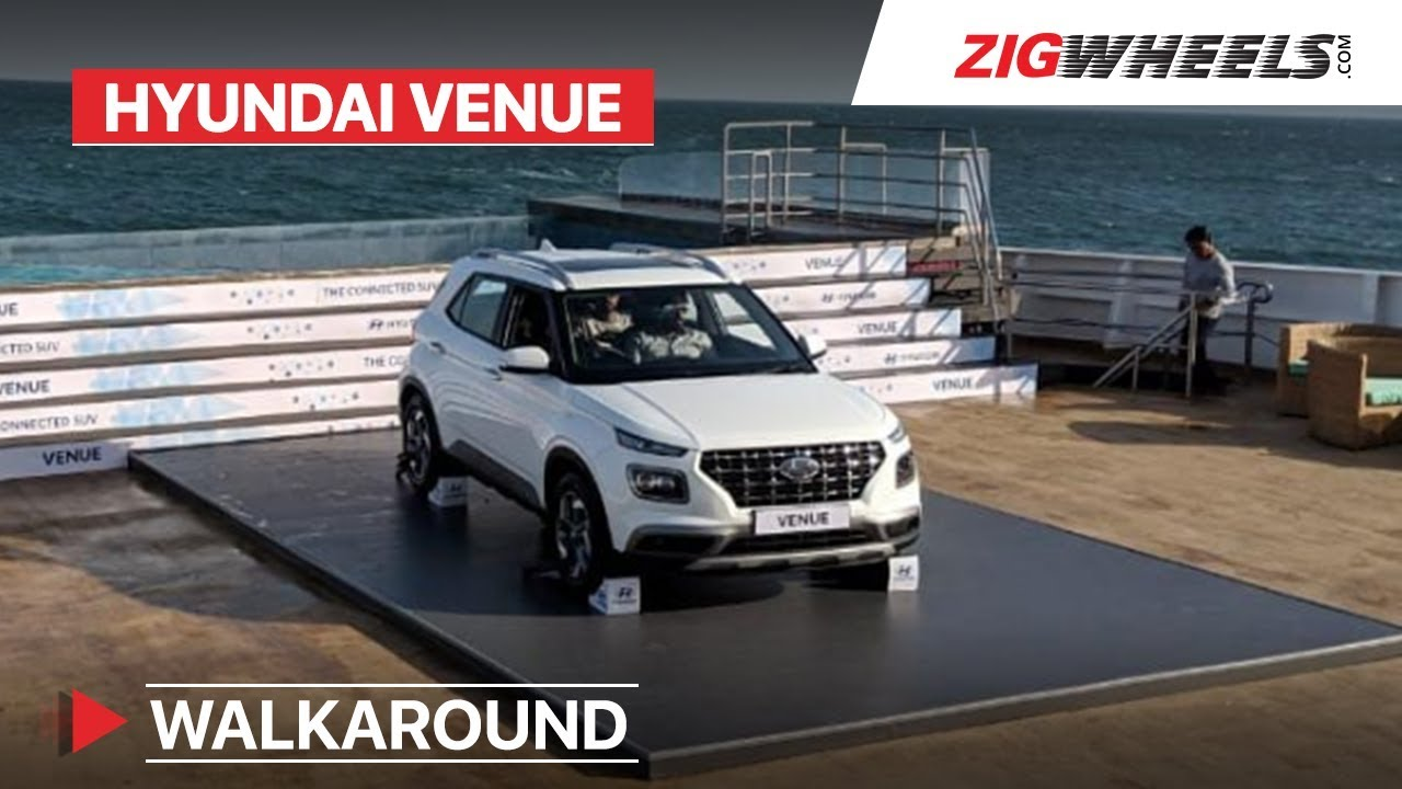 Hyundai Venue Walkaround | Launch date, Specs, Features and Variants revealed | ZigWheels.com