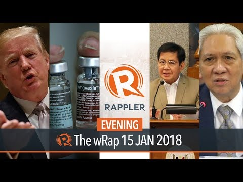 SEC revokes Rappler registration, Dengvaxia refund, Sereno impeachment hearing | Evening wRap