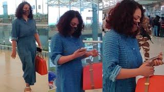 Actress Nithya Menen Exclusive Visuals @ Hyderabad Airport | Celebrities Airport Videos | TFPC - TFPC