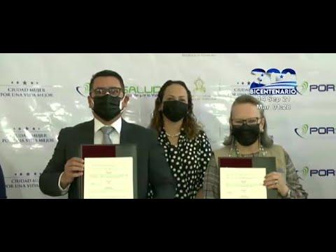 Porsalud y Ciudad Mujer, firman importante convenio