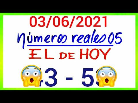 NÚMEROS PARA HOY 03/06/21 DE JUNIO PARA TODAS LAS LOTERÍAS....!! Números reales 05 para hoy.....!!
