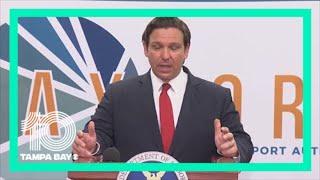 Florida Gov. Ron DeSantis says 100 nurses have been sent to the Tampa Bay area
