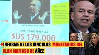 informe el destino del dinero de la corrupción del clan mafioso de Arturo murillo y Añez