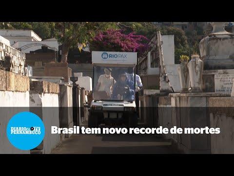 Covid-19: Brasil tem novo recorde diário de mortes