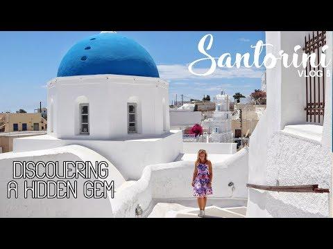 Discovering a hidden gem; Megalochori in Santorini – Vlog 5