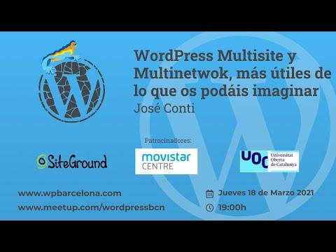 [ONLINE] WordPress Multisite y Multinetwok, más útiles de lo que os podáis imaginar