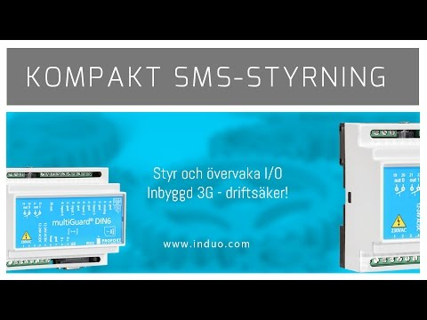 Fjärrstyrning och övervakning via GSM och 3G med Multiguard DIN6