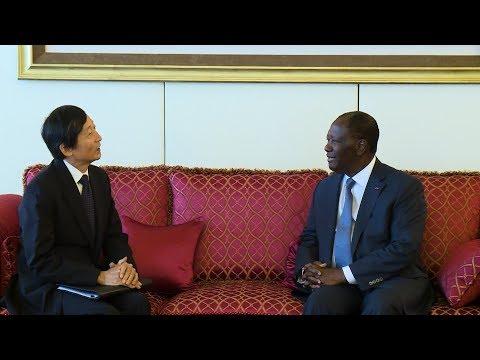Le Chef de l'Etat a eu un entretien avec Kawamura Hiroshi, Ambassadeur du Japon en Côte d'Ivoire