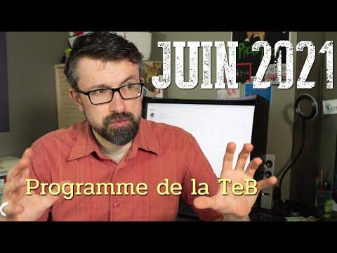 Programme de juin 2021 sur la TeB !