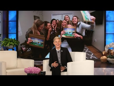 Ellen Surprises Superfan Sorority Sisters!