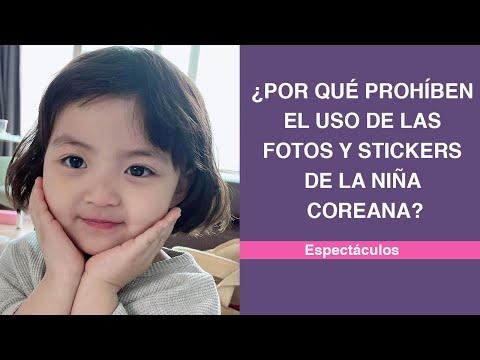 ¿Por qué prohíben el uso de las fotos y stickers de la niña coreana