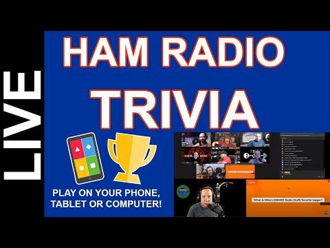Ham Radio Trivia Live - Sept 18 2020 8pm CDT Come Play!