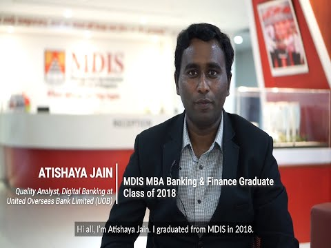 MDIS Postgraduate Testimonial Video - Atishaya Jain