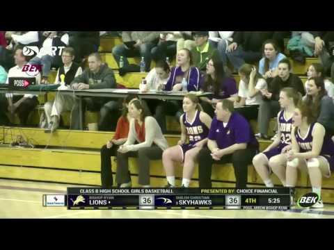 "Girls Basketball: ""Bishop Ryan vs Shiloh Christian"" - Jordan Hassler (:30 Second Clip)"