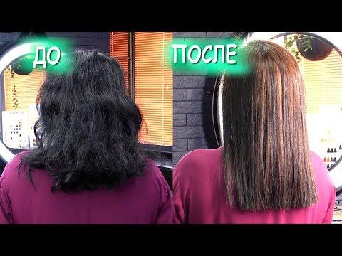 Бразильское РАЗГЛАЖИВАНИЕ волос. ДО и ПОСЛЕ photo