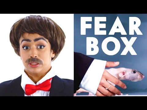 connectYoutube - Jet Packinski Touches a Hairless Rat, Rooster & Other Weird Stuff in the Fear Box   Vanity Fair