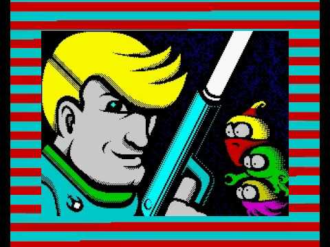 Space Monsters meet The Hardy (ZX Spectrum 128K) YRGB'2019