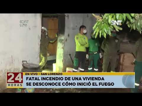 Fatal incendio en una Vivienda en San Lorenzo